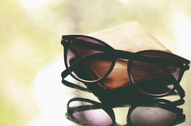 Sun-glasses with wallet