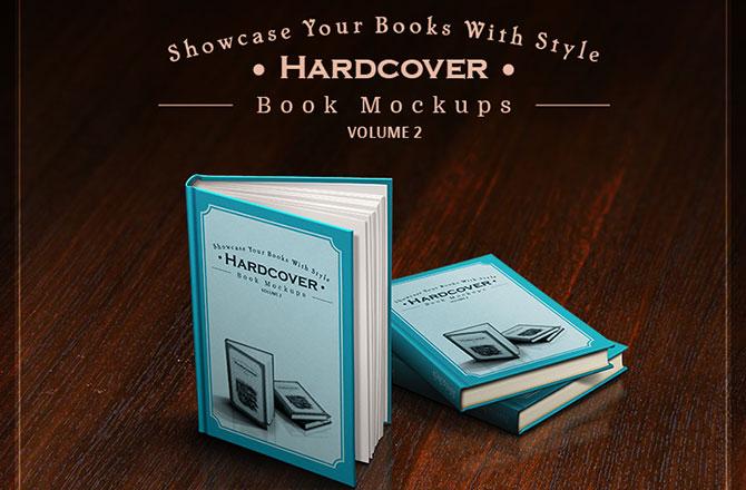 Hardcover Book Mockups – mega pack