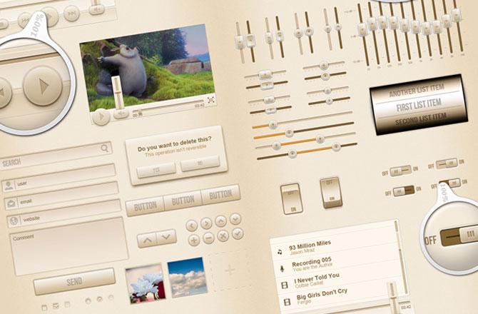 CreamUI – mobile interface kit