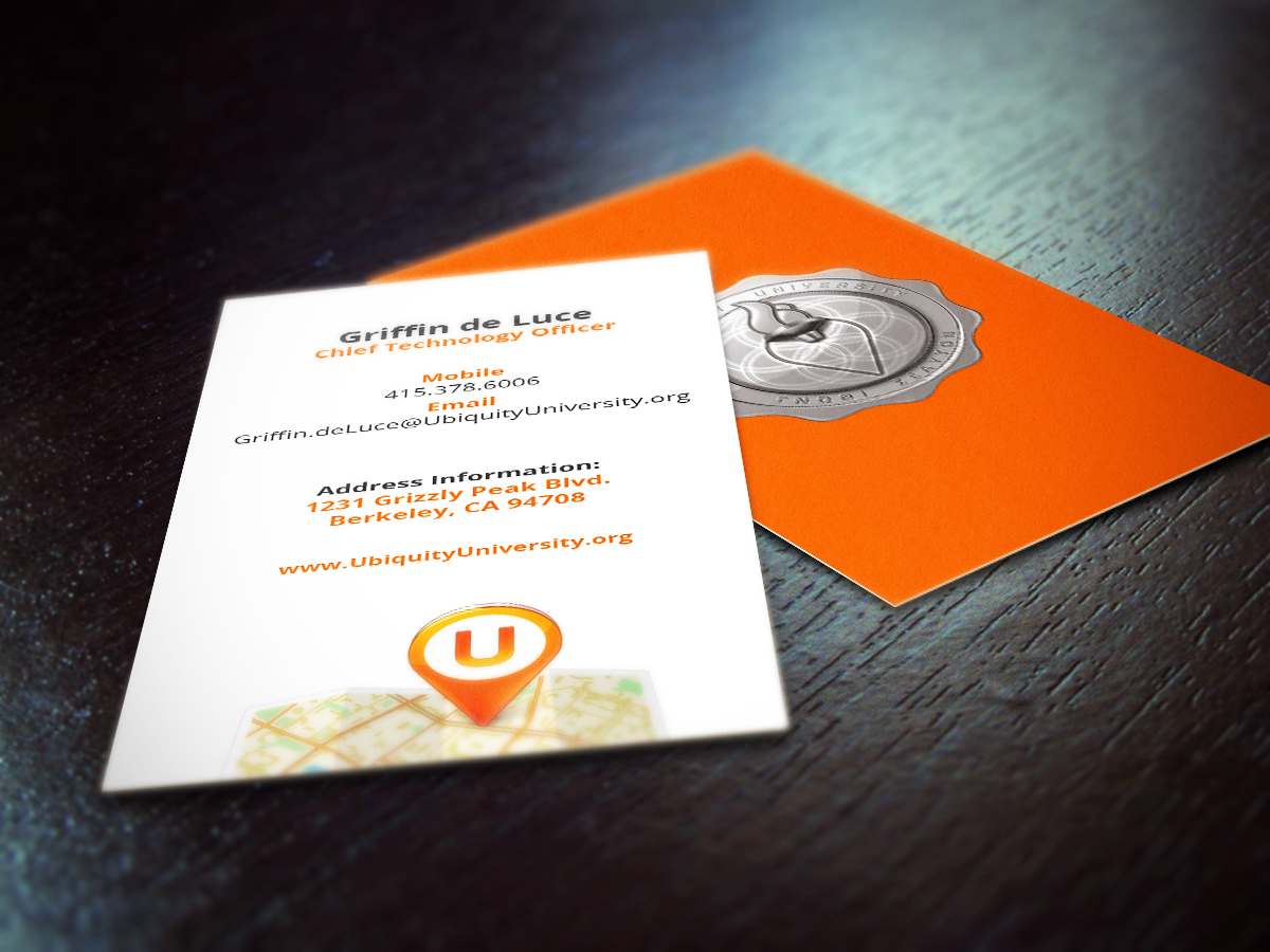 Ubiquity University business cards - Picseel Picseel