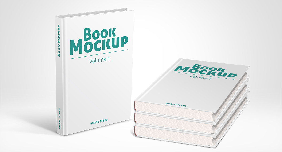 Hardcover Book With Pictures : Hardcover book mockups volume picseel