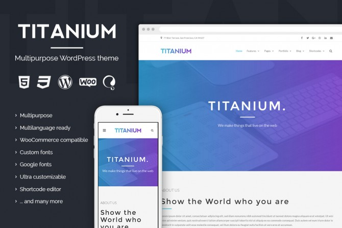 Titanium - WordPress business theme
